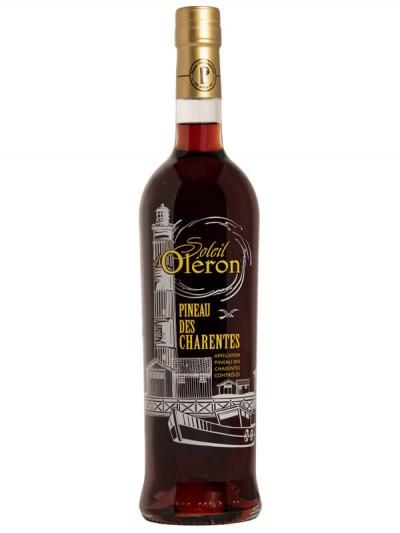 Pineau rouge des Charentes - Soleil d'Oléron sérigraphie - Les Vignerons d'Oléron