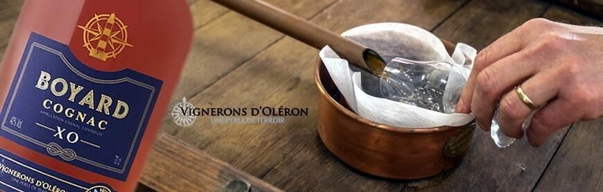 Cognac xo Boyard cognac vs cognac vsop par Les Vignerons d'Oléron